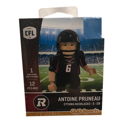 REDBLACKS OYO® Defensive Back ANTOINE PRUNEAU Minifigure
