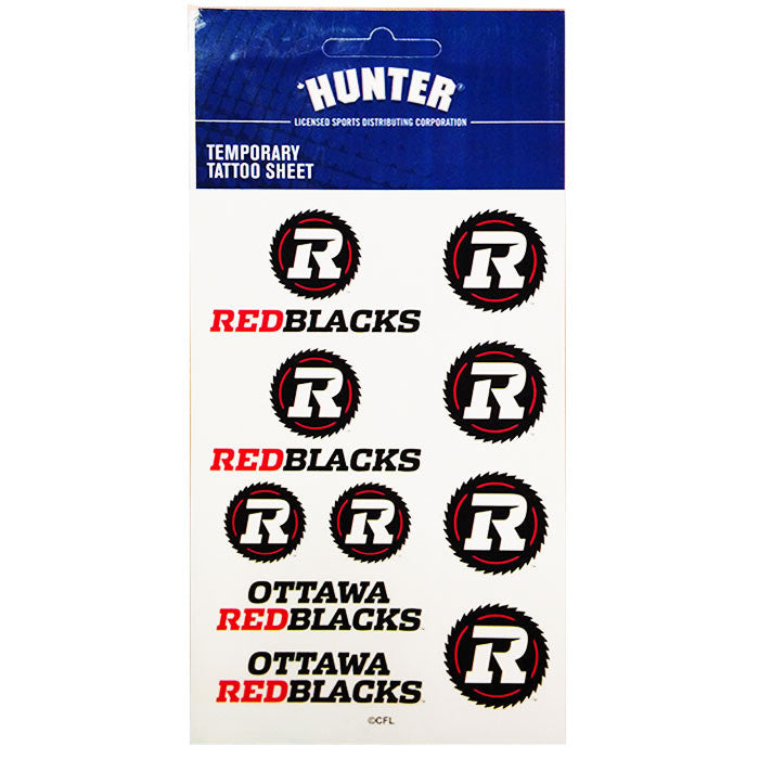REDBLACKS Hunter Tattoo Sheet – Red