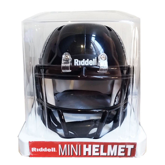 REDBLACKS Riddell Mini Replica Helmet – Black