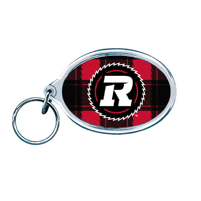 REDBLACKS WinCraft Primary Oval Acrylic Keyring - Red Plaid