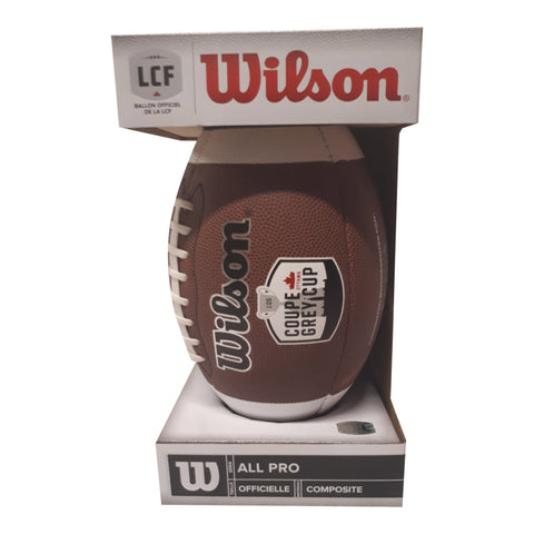 Wilson Grey Cup 105 Replica Game Ball