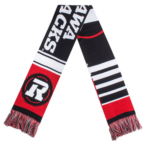 REDBLACKS Striped Fan Scarf