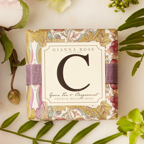 Letter C Monogram Bar Soap