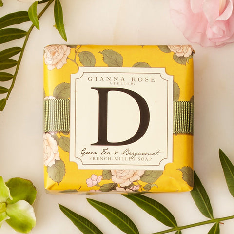 Letter D Monogram Bar Soap