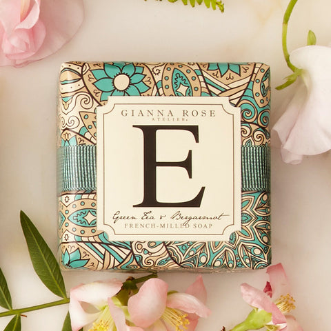 Letter E Monogram Bar Soap