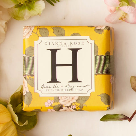 Letter H Monogram Bar Soap