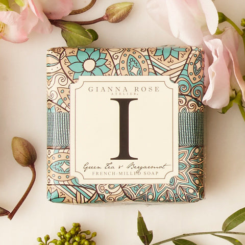 Letter I Monogram Bar Soap