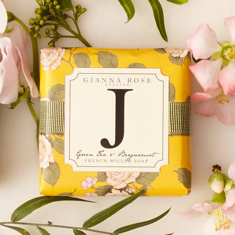 Letter J Monogram Bar Soap