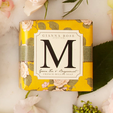 Letter M Monogram Bar Soap