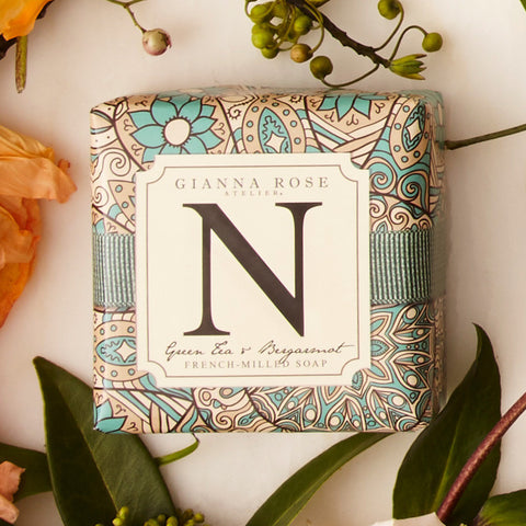 Letter N Monogram Bar Soap