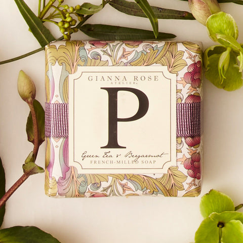 Letter P Monogram Bar Soap