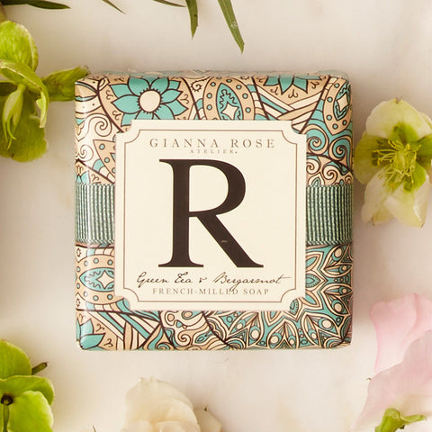 Letter R Monogram Bar Soap