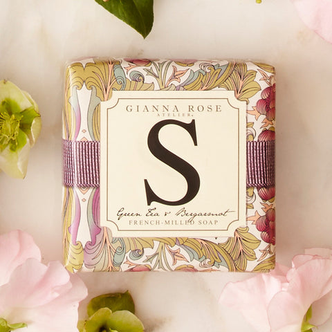 Letter S Monogram Bar Soap