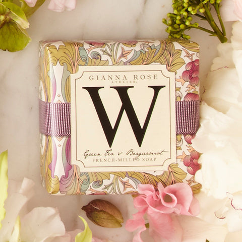 Letter W Monogram Bar Soap