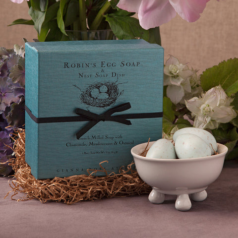 Robin's Egg Soaps and Nest Soap Dish