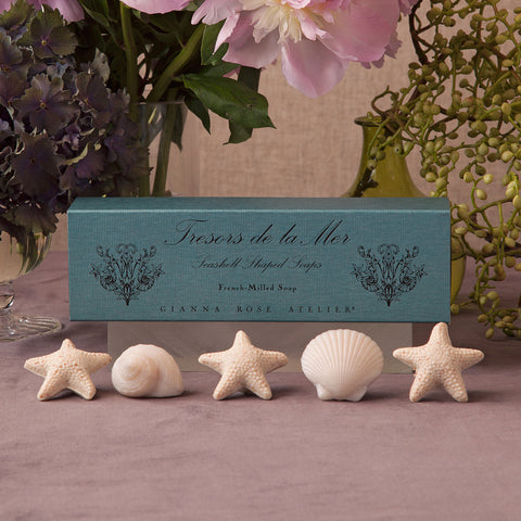 Seashell Soaps In a Slider Box