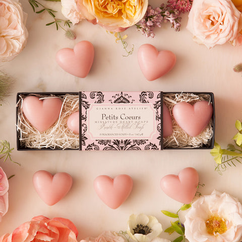 Gianna Rose Mini Heart Soaps