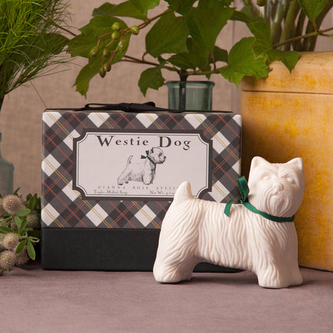 Westie Dog Shaped Soap
