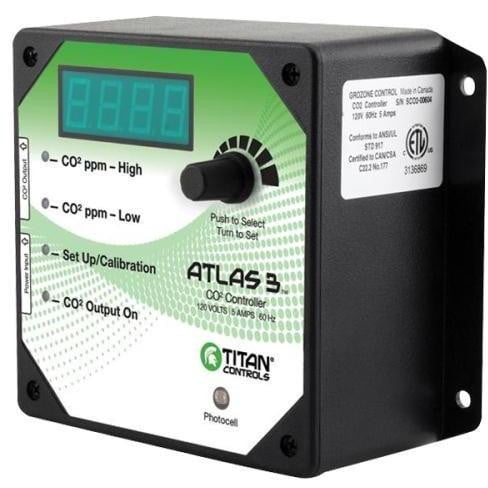 Titan Controls Atlas 3 - Day/Night CO2 Monitor/Controller - HydroPros.com
