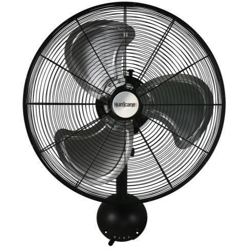 Hurricane Pro High Velocity Oscillating Metal Wall Mount Fan 20 in - HydroPros.com