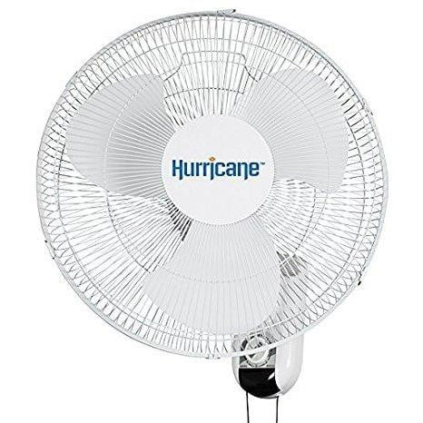 Hurricane Classic 16-Inch Wall Mount Oscillating Fan - HydroPros.com