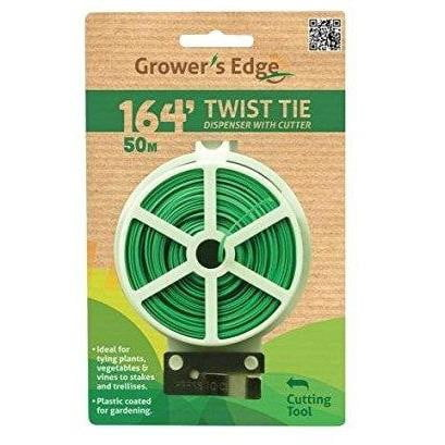 Garden Green Twist Tie Dispenser with Cutter 164' Plastic Coated