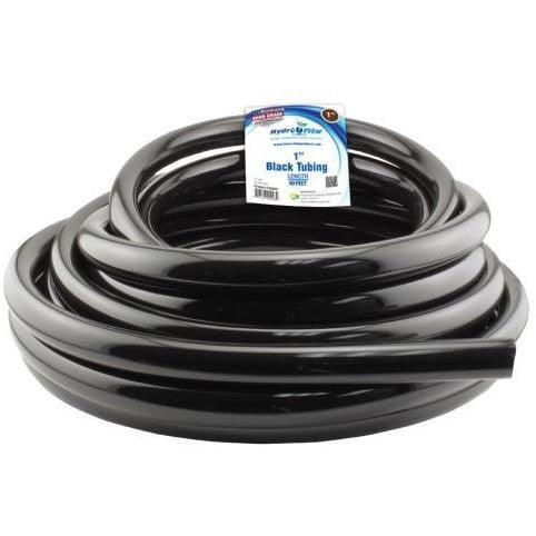 Hydro Flow Vinyl Tubing Black 1 in ID - 1.25 in OD 50 ft Roll - HydroPros.com