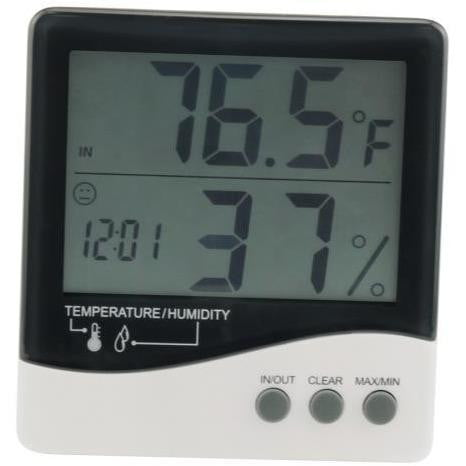 Grower's Edge Large Display Thermometer / Hygrometer - HydroPros.com