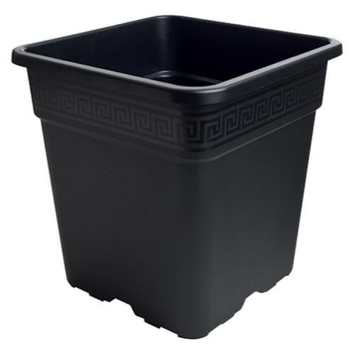 Gro Pro Black Square Pot - HydroPros.com