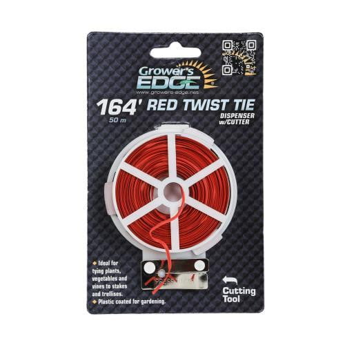 Grower's Edge Red Twist Tie Dispenser w/ Cutter - HydroPros.com