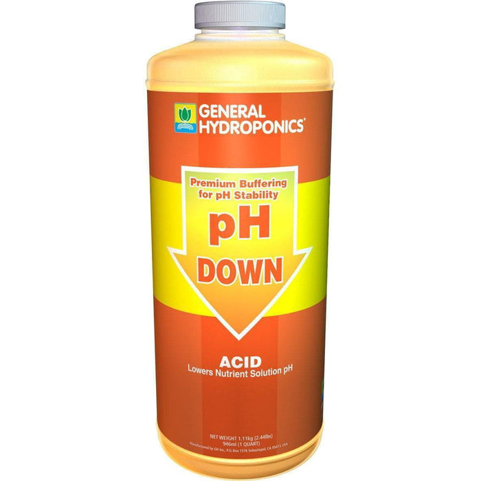 General Hydroponics pH Down - HydroPros.com