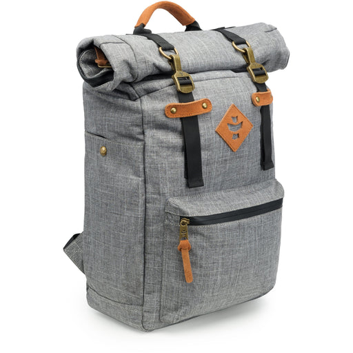 Revelry Supply The Drifter Rolltop Backpack, Crosshatch Grey - HydroPros.com