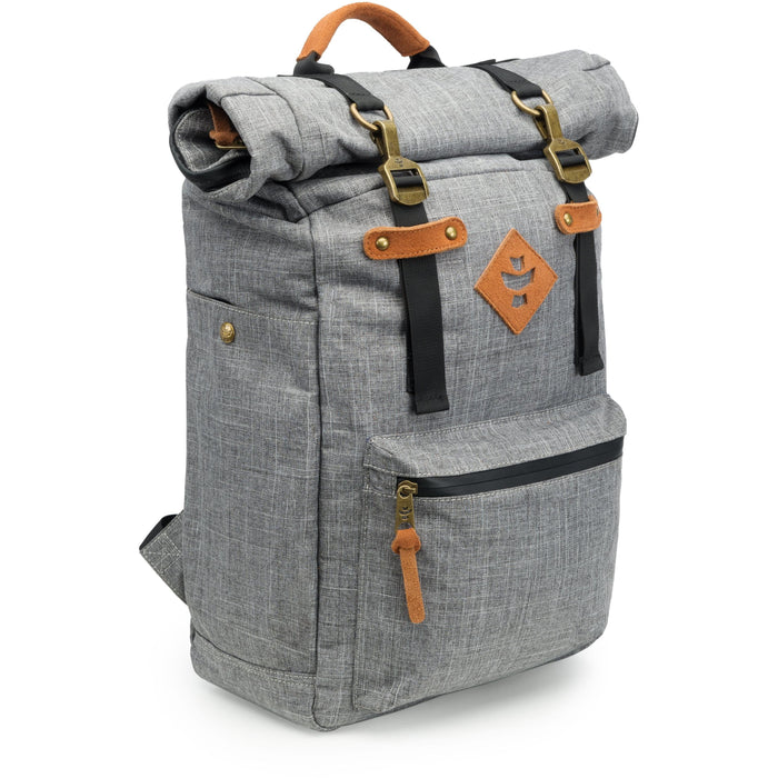 Revelry Supply The Drifter Rolltop Backpack, Crosshatch Grey