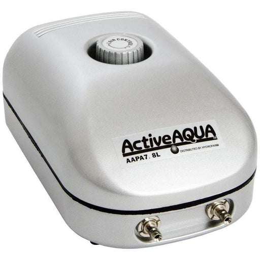 Active Aqua Air Pump, 2 Outlets, 3W, 7.8 L/min - HydroPros.com