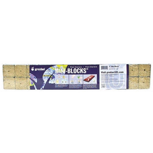 "Grodan 2"" x 2"" x 1.5"" Mini Blocks Grow Media"