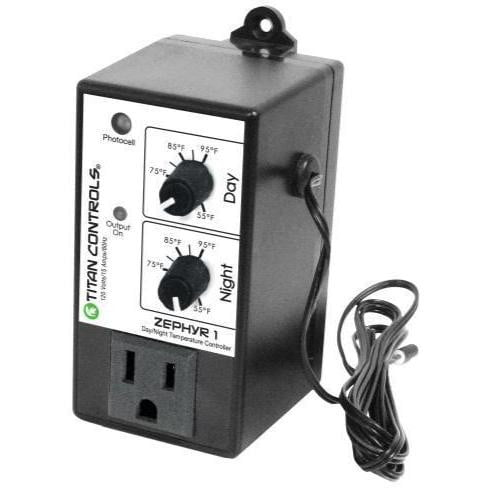 Titan Controls Zephyr 1 Day and Night Temperature Controller - HydroPros.com