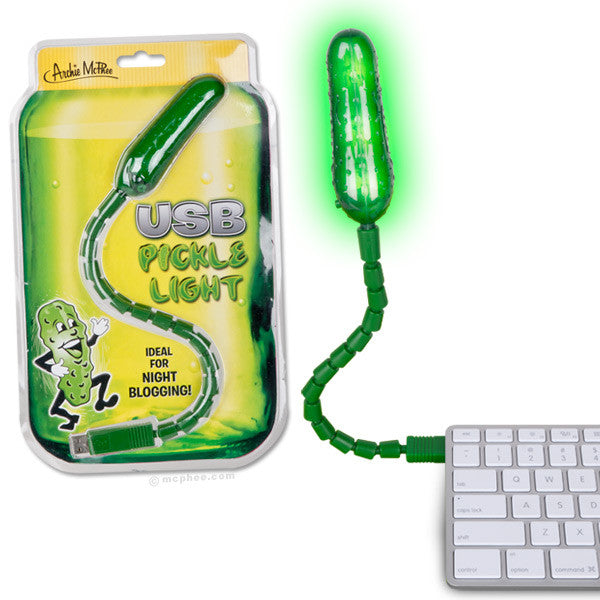 USB Pickle Light - Ideal for Night Blogging