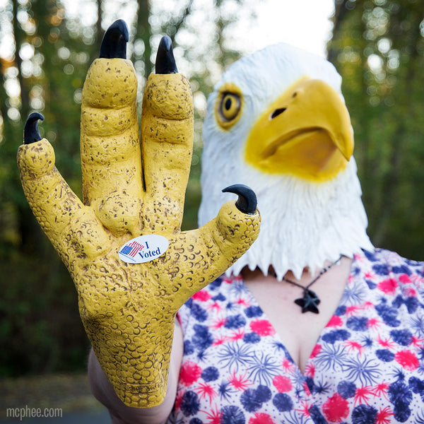 This American Eagle would like to remind you to vote