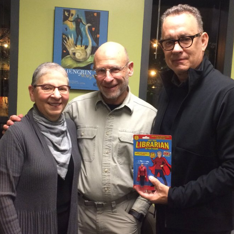 Nancy Pearl, Tom Hanks and the Librarian Action Figure!