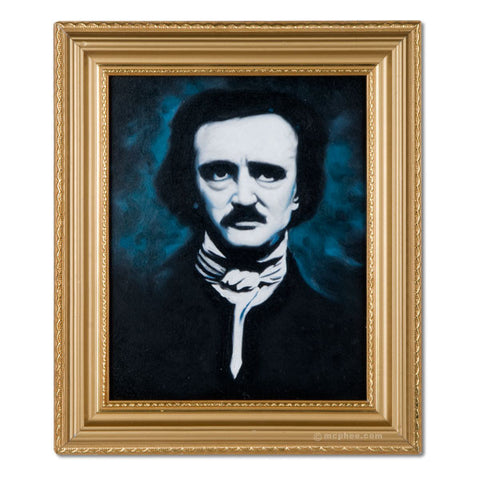 Edgar Allan Poe Oil Painting