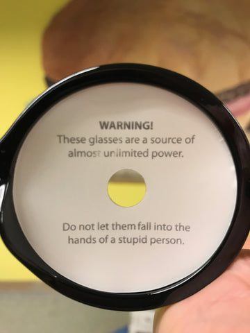 Warning on Hypno Glasses