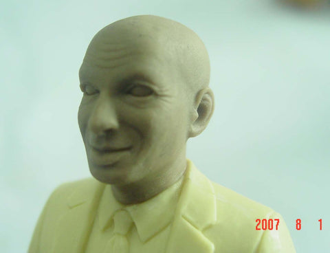 Closeup of Seth Godin Action Figure Prototype Face