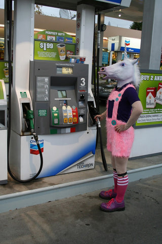 Unicorn pumping gas