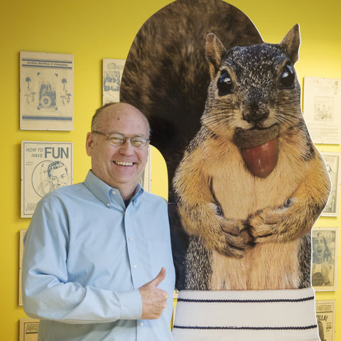 Mark Pahlow with a Squirrel in Underpants