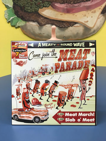 Cover of Meat Parade single with mr bacon