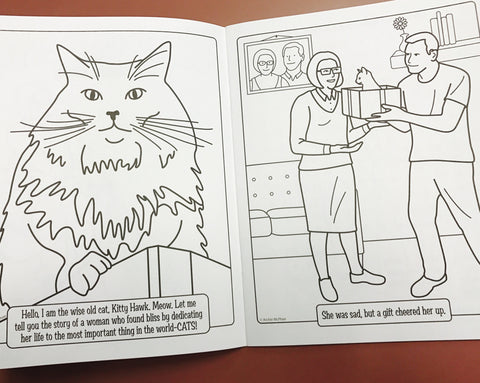Kitty Hawkins in Crazy Cat Lady Coloring Book