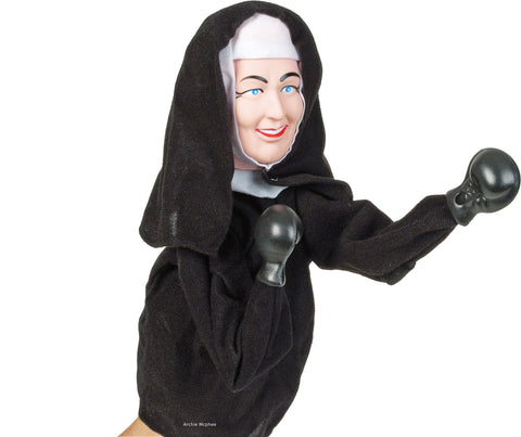 Nun Punching Puppet Alone
