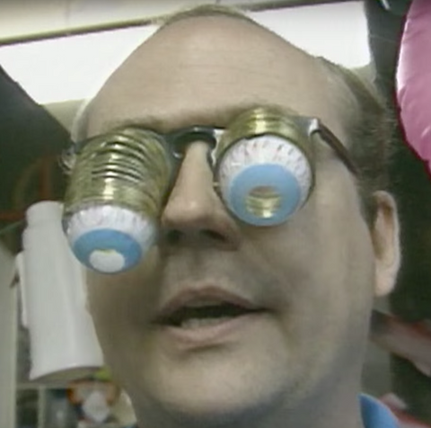 Komo Mark Pahlow wearing Goofy Droopy Glasses 1990