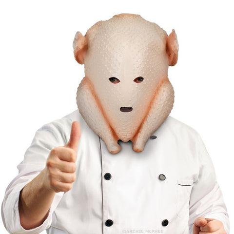 Chef in Turkey Mask head in turkey