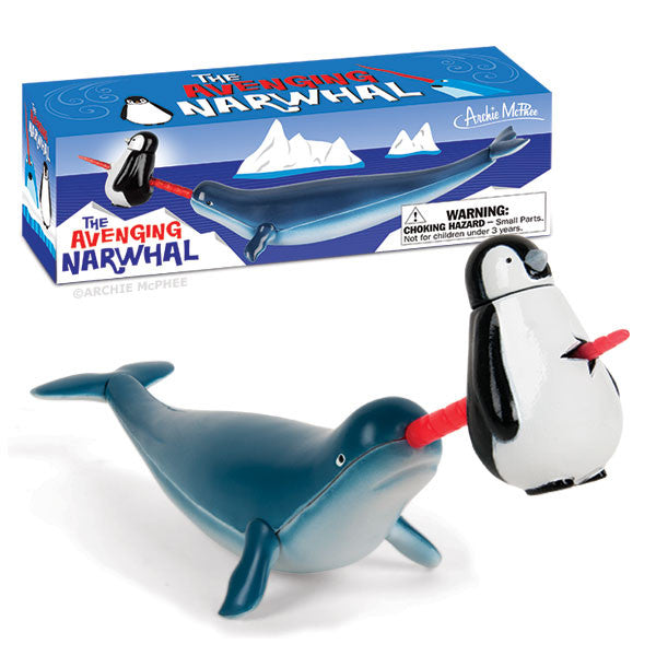 Avenging Narwhal with horn through penguin